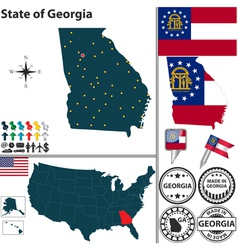 Map georgia vector