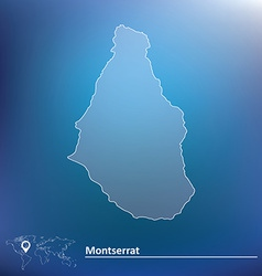 Map of Montserrat vector