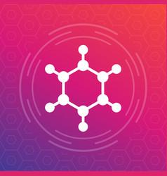 molecule icon logo element vector image