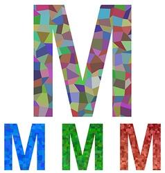 Mosaic font design - letter m vector