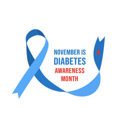 November diabetes awareness month vector