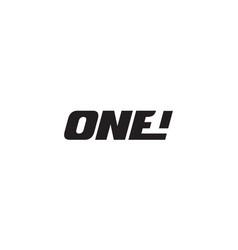 one logo design concept vector image