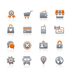 Online store icons - graphite series vector