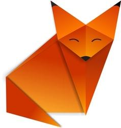 Origami fox vector