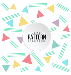 Pattern colorful triangle green line background ve vector