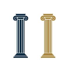 Pillar law office logo template design eps 10 vector