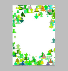 Pine tree pattern presentation template - blank vector