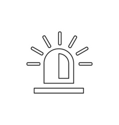 Police flasher outline icon Linear vector