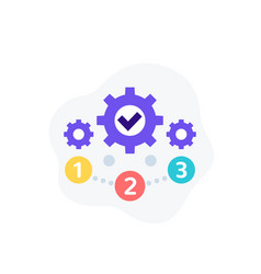 Project management 1 2 3 steps icon vector