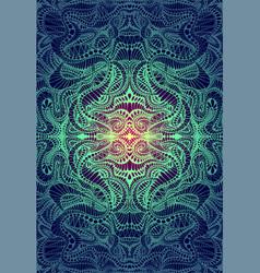 psychedelic trippy colorful fractal mandala vector image