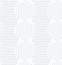 Quilling paper horizontal and vertical waves vector