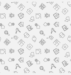 real estate simple seamless pattern vector image