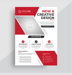 Red business corporate flyer design template vector