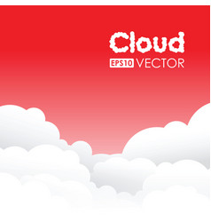 Red cloud background vector