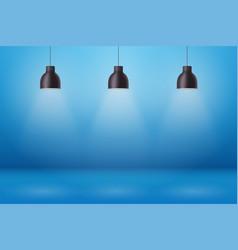 Retro pendant ceiling cone lamp vector