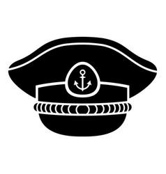 sailor cap icon simple style vector image