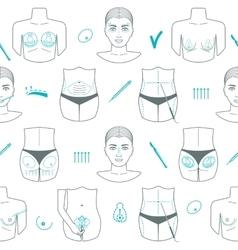Seamless pattern plastic surgery flat design vector