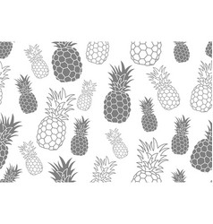 seamless pattern with pineapple vintage pineapple vector image