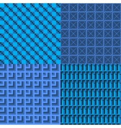 set blue seamless web background vector image