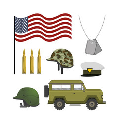 set national army patriotic forces vector image