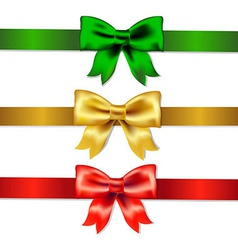 Set Of Color Bows vector