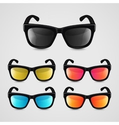 Set of realistic sunglasses vector