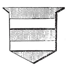 shield showing bar is half its width vintage vector image