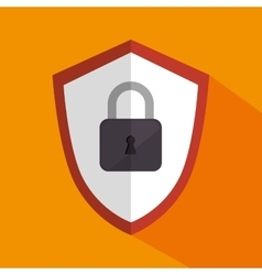 Shield with padlock icon vector