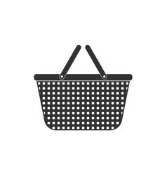 shopping basket icon isolated flat design vector image
