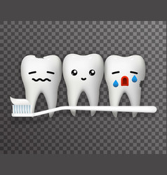 Smile happy cry pain suffer emotion cute tooth vector