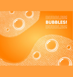 soap bubbles in bath or sud transparent foam on vector image