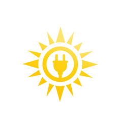 Solar energy icon on white vector