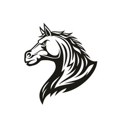 Stallion head equestrian sport symbol isolated vector