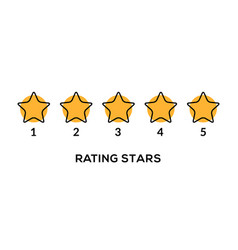 Star rate 5 review icon five rate vector