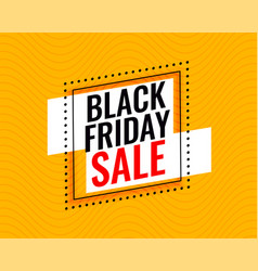 stylish black friday sale frame on yellow vector image