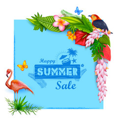 Summer time poster wallpaper for fun party vector