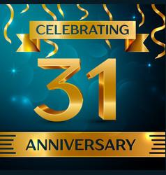 Thirty one years anniversary celebration design vector