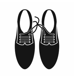 Tied laces on shoes joke icon simple style vector image