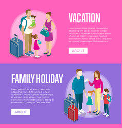 travelling people horizontal flyers set vector image