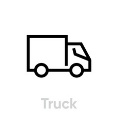truck delivery icon editable line vector image