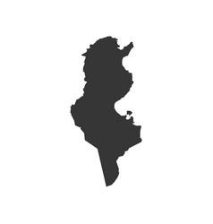 tunisia map silhouette vector image