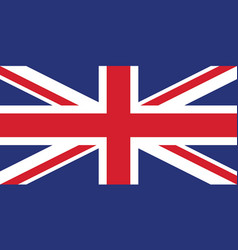 union jack united kingdom flag vector image
