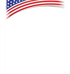 United states flag frame with copy space vector