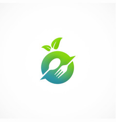 vegetarian food logo vector image