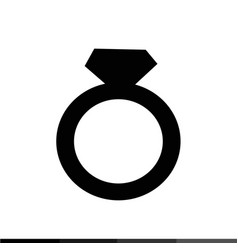 wedding ring icon design vector image