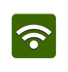 wifi app button vector image