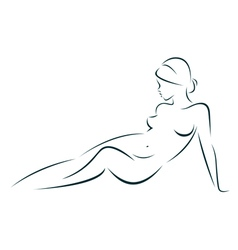 Beauty of the female body vector image