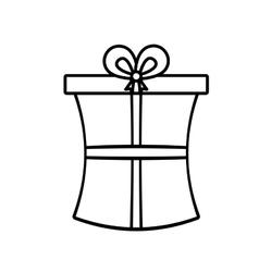 gift box ribbon wedding present linear vector image vector image