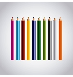 set colors pencils icon vector image
