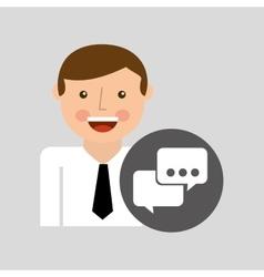 social media man bubble speech concept vector image vector image